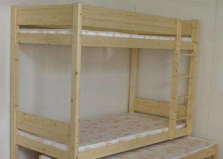 员工宿舍双层木床